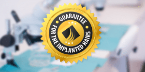 Hair transplant written guarantee