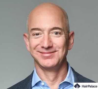 Jeff Bezos with a clean shaven face