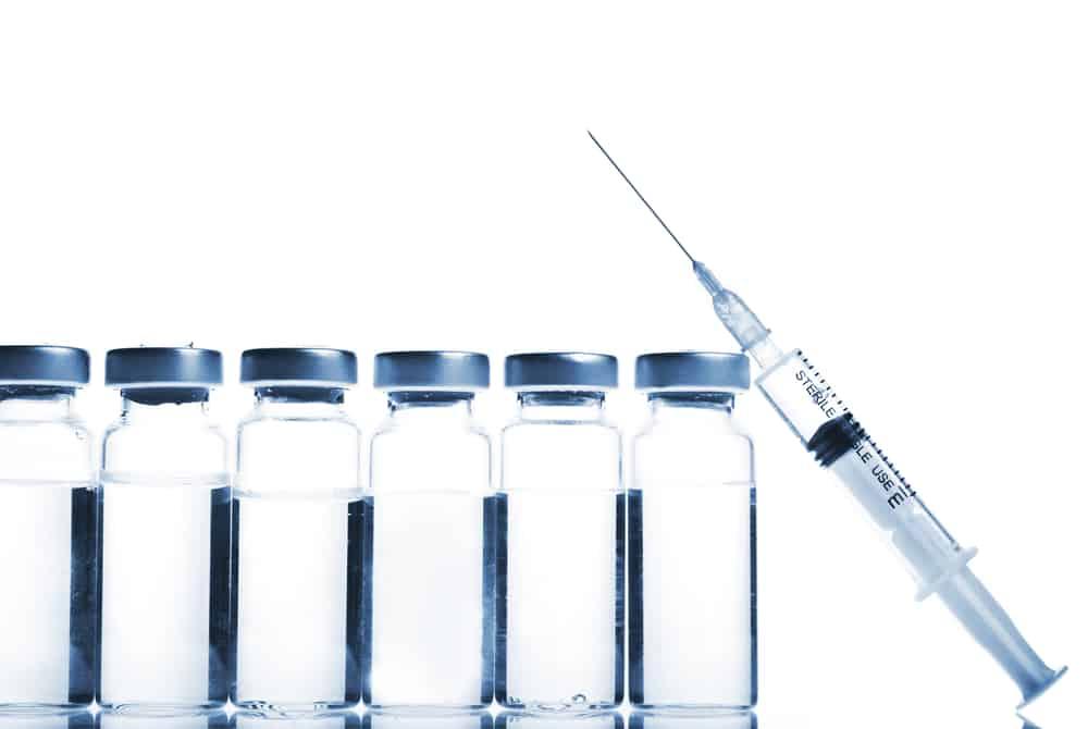 syringe with bottles