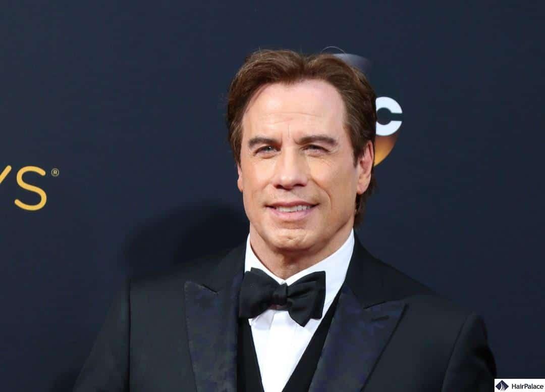 John Travolta hairline after rumoured hair transplant in 2016