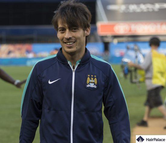 Young David Silva's dense hair