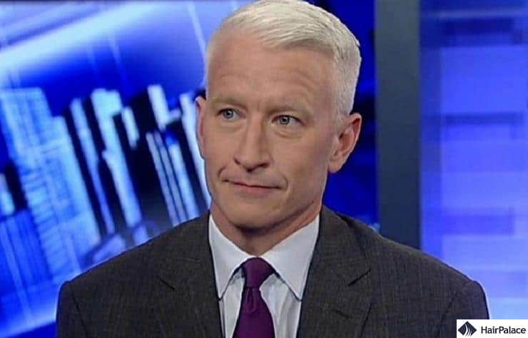 Anderson Cooper's mature hairline
