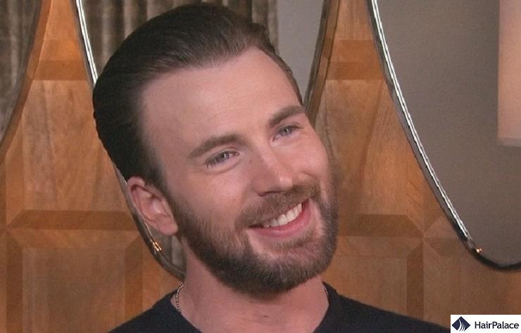 Chris Evans' mature hairline