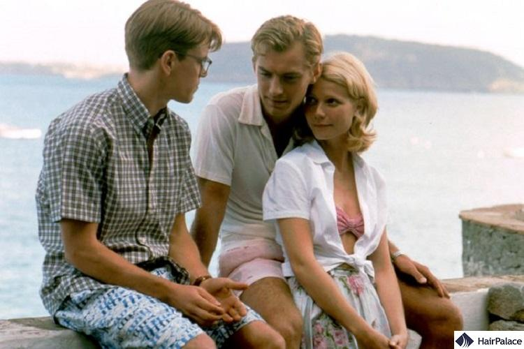 Jude Law's hairline in the movie The Talented Mr. Ripley