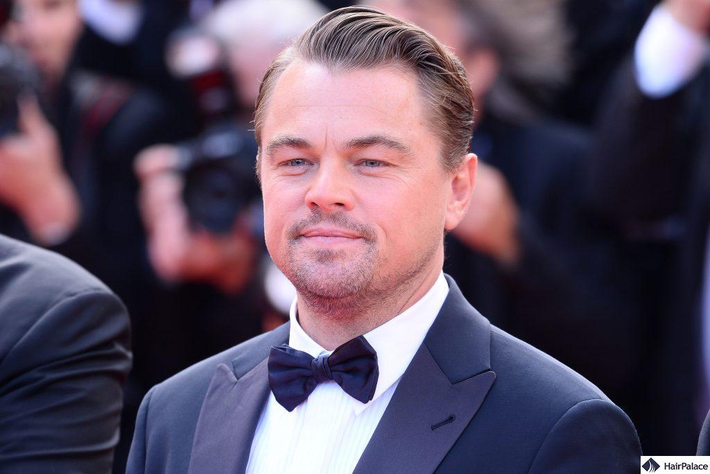 the mature hairline of Leonardo DiCaprio