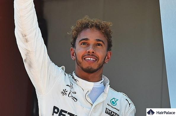 Lewis Hamilton's new hairstyle in 2017