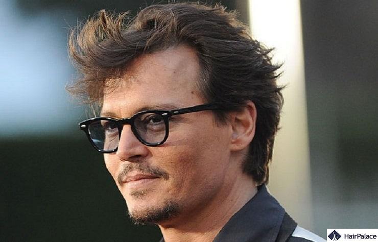 Johnny Depp's mature hairline
