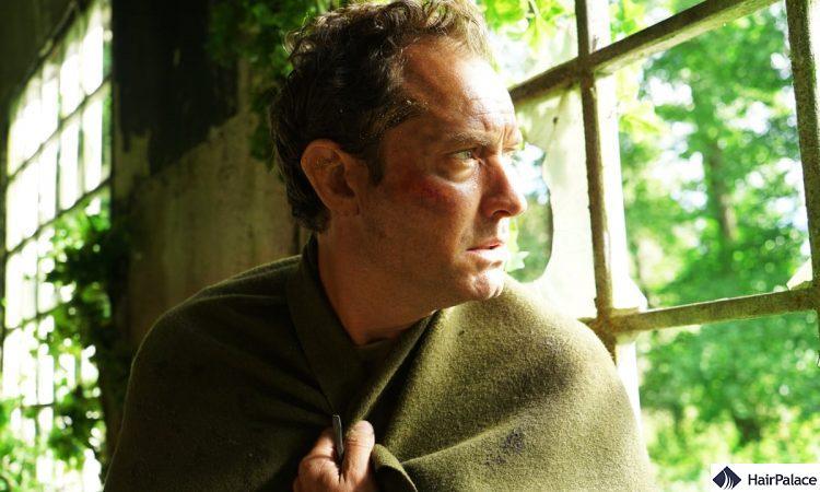 Jude Law pattern baldness in Third Day movie