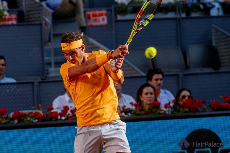Rafael Nadal dense hairline in 2018